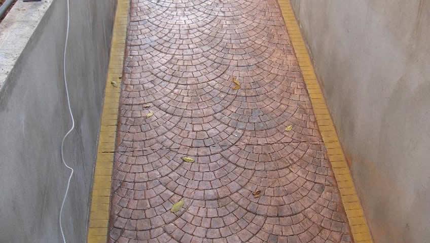 Baskılı beton uygulaması