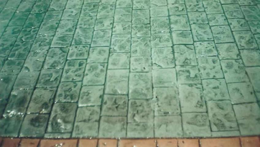 Rulo baskılı beton uygulaması